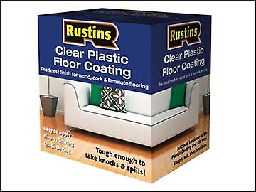 Rustins Clear Plastic Floor Coating Kit Satin 4 Litre