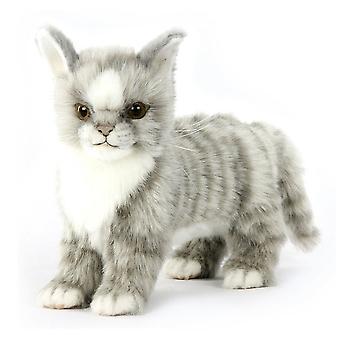 Hansa Standing Gray Kitten (22cm L)