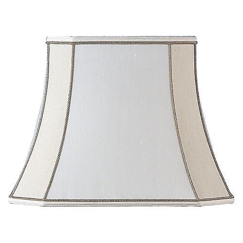 Endon CAMILLA-10 Camilla Square Cut Beige Silk Fabric Lamp Shade - 10 Inch