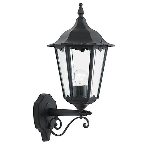 Endon YG-3000 Traditional Black Aluminium Outdoor 6-Sided Up Wall Lantern