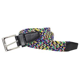 Stretchy Belts Mens Two Tone Weave Belt