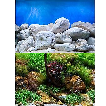 Marina Aquatic Garden / Bright Stone Aquarium Background 24inch High
