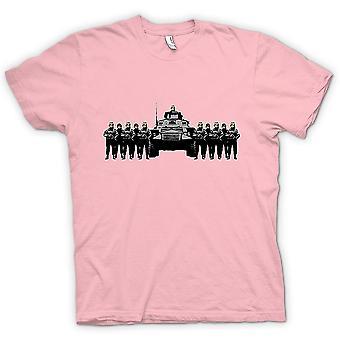 Mens T-shirt - Banksy Graffiti - Police State