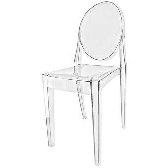 Fusion levende Crystal Clear Ghost stijl plastic Victoria dining stoel