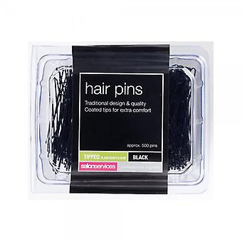 Salon Services Heavy Plain Black Pin