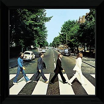 De Beatles-Abbey Road ingelijste Album Cover Print 12x12in