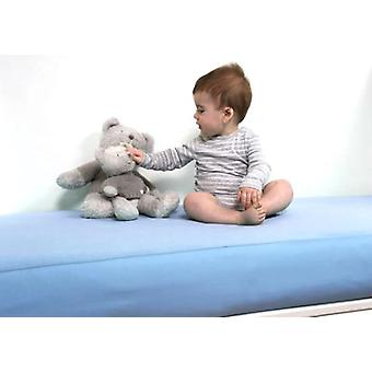 B-sensible Baby Waterproof breathable fitted crib sheet 70x160 Sky blue