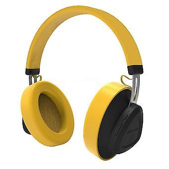Bluedio wireless headphone with mic - yellow