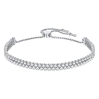 Swarovski Bracelet Subtle Double - white - rhodio plating