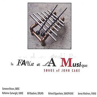 Cartwright/Oppenheim - La Faute De La Musique: Sanger av John Cage [DVD] USA import