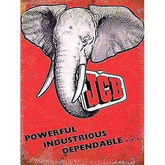 JCB Elephant Large Flat Metal Sign (og 4030)