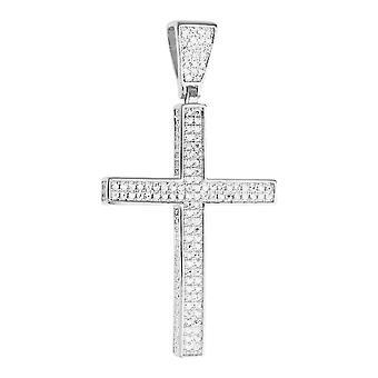 Prime Bling - 925 sterling argent Croix pendentif