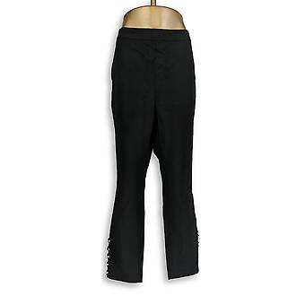 Isaac Mizrahi Live! Women's Plus Pants 24/7 Stretch Faux Pearl Black A343763