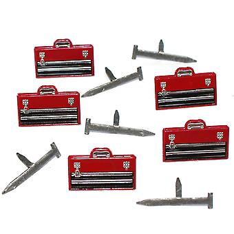 Eyelet Outlet Shape Brads 12/Pkg-Tool Box & Nails QBRD2-8