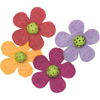 Feltworks Shapes Crazy Daisies 4 Pkg 73327