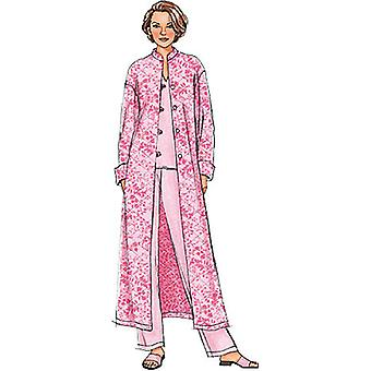 Misses' Misses' Petite Jacket, Robe, Top, Tunic And Pants  Z Lrg  Xlg Pattern B4406  0Z0