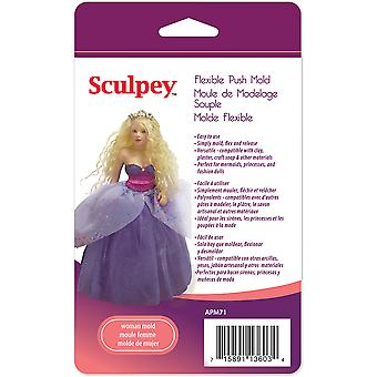 Sculpey Flexible Push Mold Woman Doll Apm 71