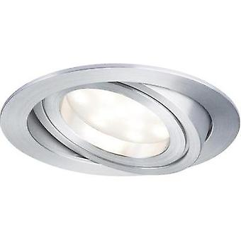 LED flush mount light 7 W Warm white Paulmann Coin 92832 Aluminium