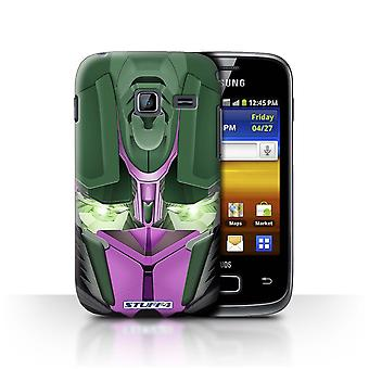 STUFF4 Case/Cover for Samsung Galaxy Y Duos/S6102/Opta-Bot Pink/Robots