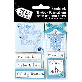 Express Yourself MIP 3D Stickers-Baby Boy Captions DIYT343