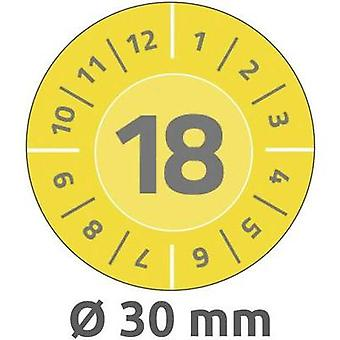 Avery-Zweckform 6942 Labels (hand writable) Ø 30 mm Film Yellow 80 pc(s) Permanent Test labels
