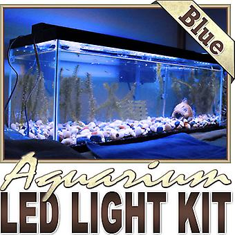 Biltek 6' ft Blue Aquarium Reef 455nm Blue Remote Controlled LED Strip Lighting SMD3528 Wall Plug - Main Lighting Sub Fresh Water Salt Water Tanks Water Resistant 3528 SMD Flexible DIY 110V-220V