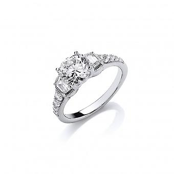 Cavendish Franse mousserende Solitaire Ring
