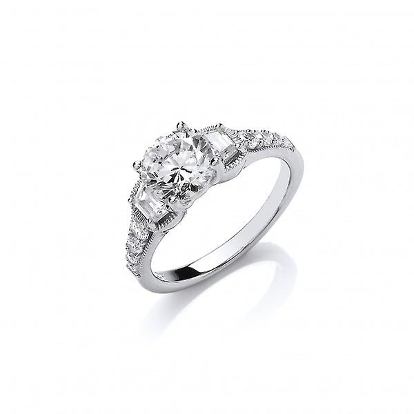 Cavendish French Sparkling Solitaire Ring