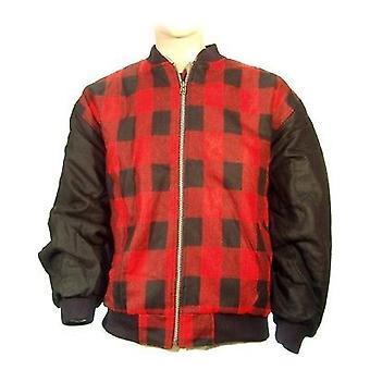Mens New Lumberjack Outdoors Padded Flight Jacket