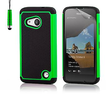 32nd Shock proof case + stylus for Microsoft Lumia 550 - Green