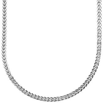 Sterling 925 Silver bling Frankish chain - 3x3mm