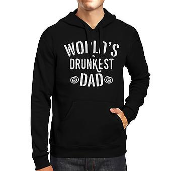 World's Drunkest Dad Unisex Black Hoodie Funny Fathers Day Gift