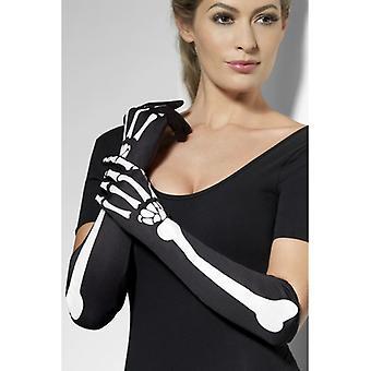 Skeleton gloves long horror skeleton gloves