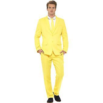 Pan żółty kombinezon żółtych bananów garnitur slimline mężczyzn 3 szt premium