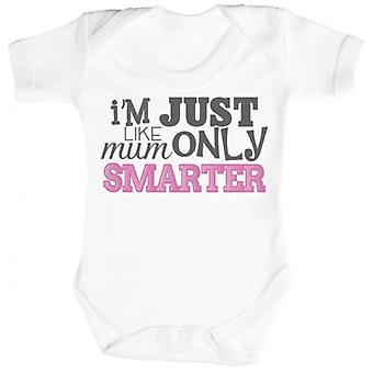 Spoilt Rotten Like Mum Only Smarter Short Sleeve Baby Bodysuit