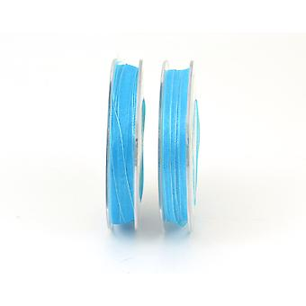 7mm Organza Craft Ribbon - 10m Reel - Turquoise | Ribbons & Bows for Crafts