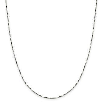 スターリング シルバー オクタゴン リング 1.15 mm 8 側スパークル カット ボックス チェーン ネックレス - 長さ: 16 に 30