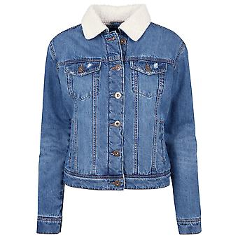Urban classics ladies jacket Sherpa denim