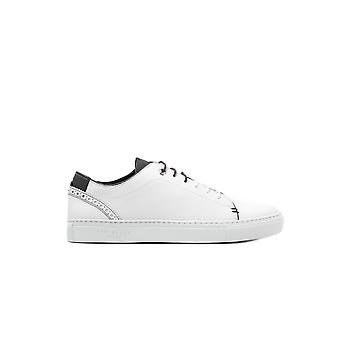 Men's Kiing Trainers - White Leather
