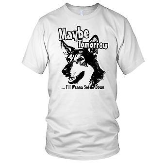 Misschien zult morgen ik willen regelen naar beneden Littlest Hobo Mens T Shirt
