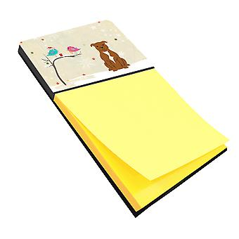 Christmas Presents between Friends Staffordshire Bull Terrier Brown Sticky Note