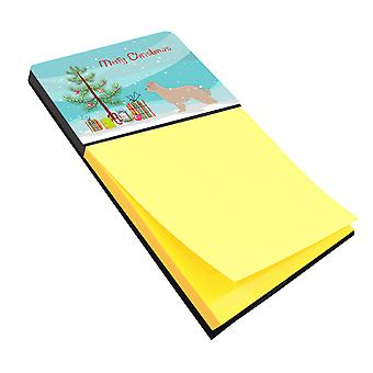 Pyrenean Shepherd Dog Merry Christmas Tree Sticky Note Holder