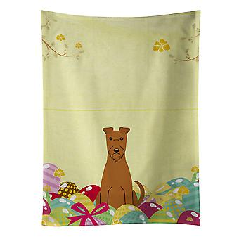 Carolines Treasures  BB6062KTWL Easter Eggs Irish Terrier Kitchen Towel