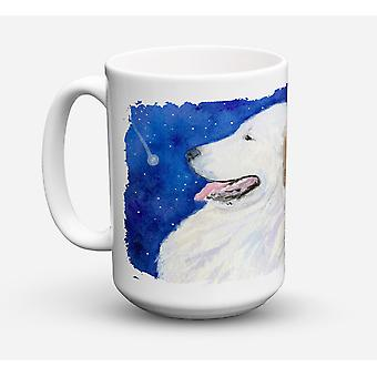 Great Pyrenees Dishwasher Safe Microwavable Ceramic Coffee Mug 15 ounce