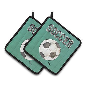 Carolines Treasures  8484PTHD Soccer Pair of Pot Holders