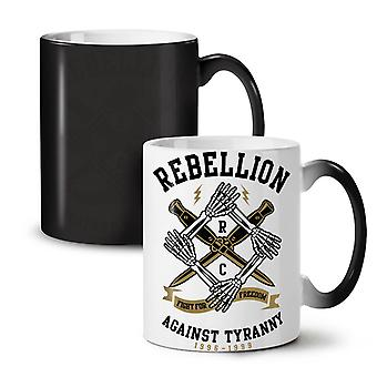 Rebellion Tyranny NEW Black Colour Changing Tea Coffee Ceramic Mug 11 oz | Wellcoda