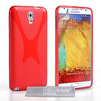 Samsung Galaxy Note 3 Neo X-Line Gel Case - rood