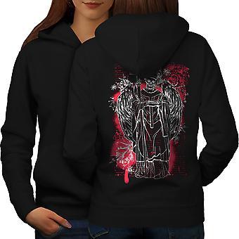 Satan Angel Devil Skull femmes BlackHoodie dos   Wellcoda