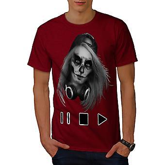 Schädel beängstigend Spiel Musik Männer RedT-Hemd | Wellcoda