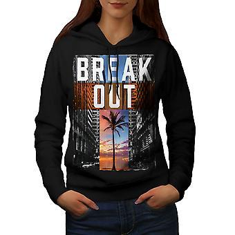 Break Out City Fashion Women BlackHoodie | Wellcoda